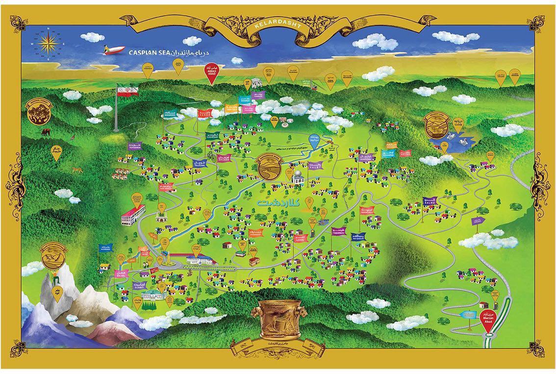 نقشه شماتیک کلاردشت