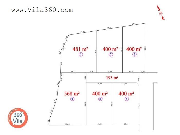 ۱۱۶۰ - زمین فروشی کلاردشت حسن کیف - نقشه زمین تفکیک شده با راه مشترک