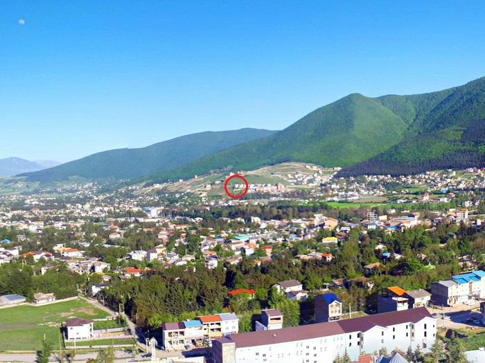 موقعیت ویلا از کوه مقابل