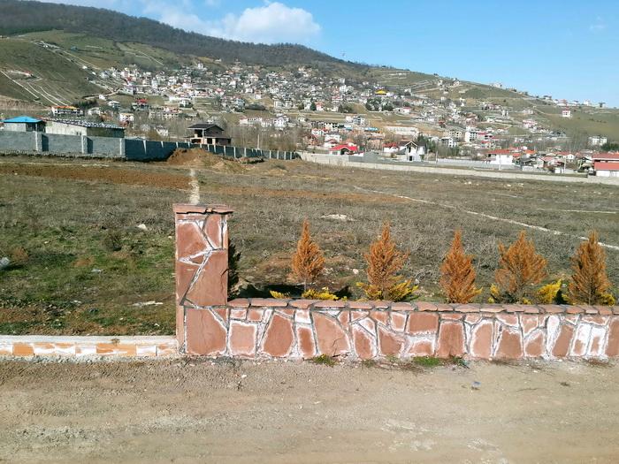 نمای غرب - دیوار سنگی راه شش متری